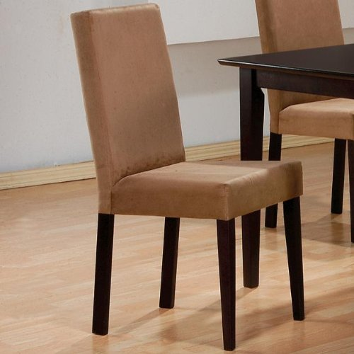 Coaster Microfiber Chairs Cappuccino Set