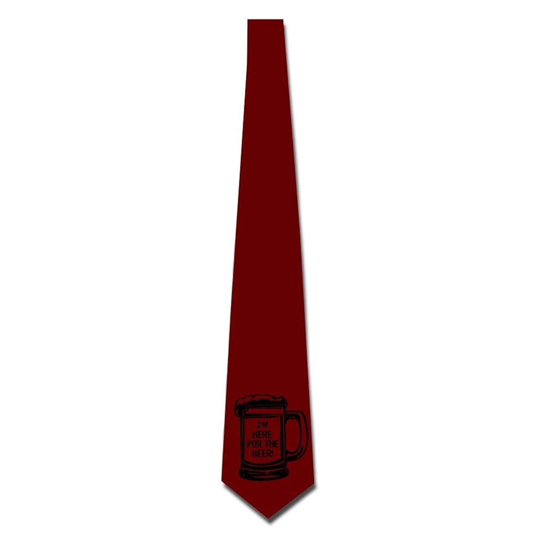 Men's Necktie Polyester Neckwear Silk Neckcloth Beer Glass Neck Choker