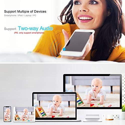 ANRAN Caméra de Surveillance IP Caméra Pivotante sans Fil HD 5MP Caméra Intérieure Extérieure Audio avec Vision Nocturne et Détection Humanoïde 4X Zoom électronique Carte SD de 32 Go Préinstallée