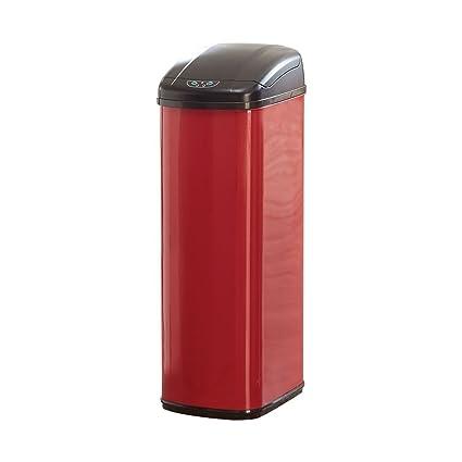 Minimalist BrylaneHome 50 Lt Motion Sensor Trash Can Red 0 Picture - Amazing motion sensor kitchen trash can