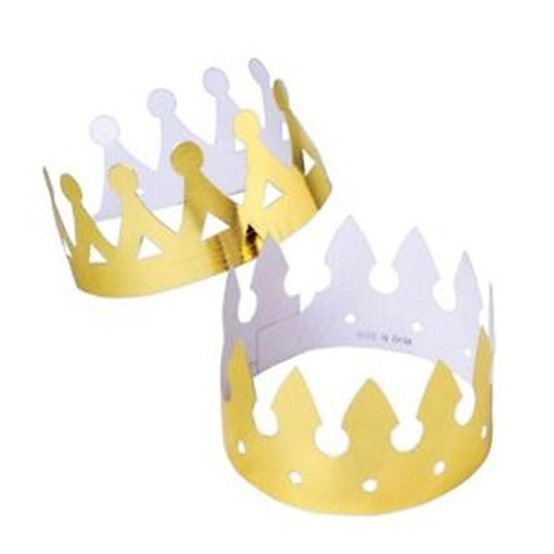 Amazon.com: 12 Foil Crowns: Clothing