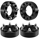 Goplus 4PC 2' 6x5.5 Wheel Spacer Adapters for 2003-2012 Cadillac Escalade GMC Silverado Tahoe Suburbam Chevy Sierra Savana 1500 Yukon, Black 6 Lug (Black)