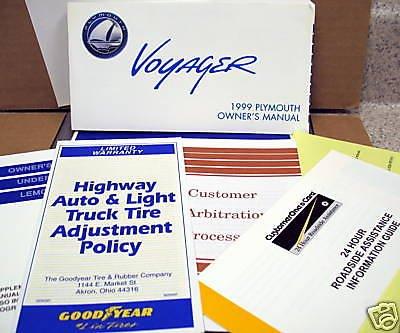 1999 Plymouth Voyager minivan Owner's Kit
