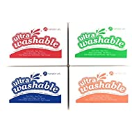 Hampton Art Washable Ink Pads for Kids - Set of 4 Pads