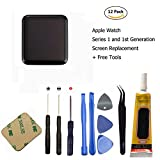 Ogodeal Apple Watch Series 1 A1803 and (1st generation) A1554 Screen Repair Kit 42mm Sapphire Crystal Version LCD Screen and Digitizer Assembly Replacement with Repair Tool Set