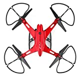 Inverlee Utoghter 69508 Foldable Wifi FPV Camera 4CH 2.4G 6-Axis RC Quadcopter Drone Toys (Red)