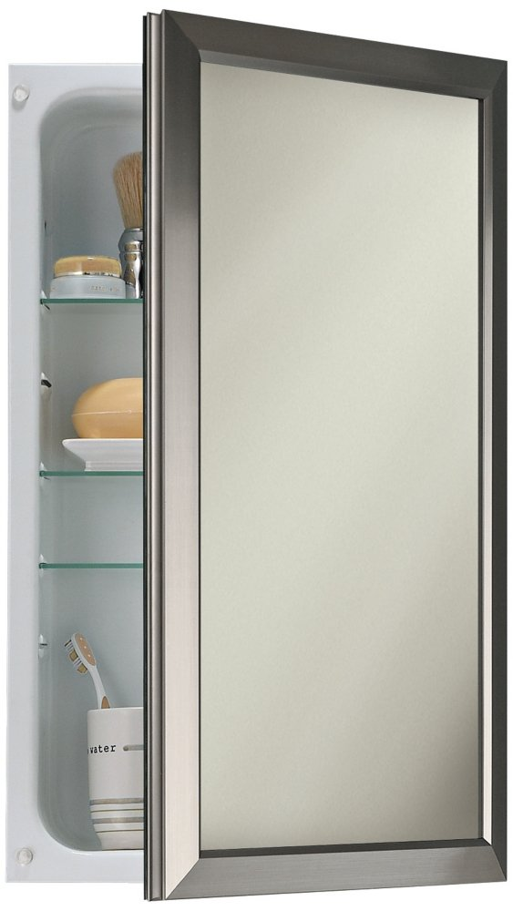 Amazon.com: Broan NuTone 625N244SNC Hampton Recessed And Framed Medicine  Cabinet, Satin Nickel: Home Improvement