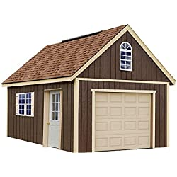 Glenwood 12 ft. x 16 ft. Wood Garage Kit without Floor