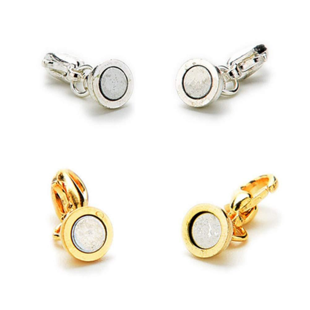 Or et Argent SUPVOX Fermoirs de Bijoux Magn/étiques S/écurit/é Magn/étique Serrure pour Collier Bracelet Bijoux 20 Pi/èces