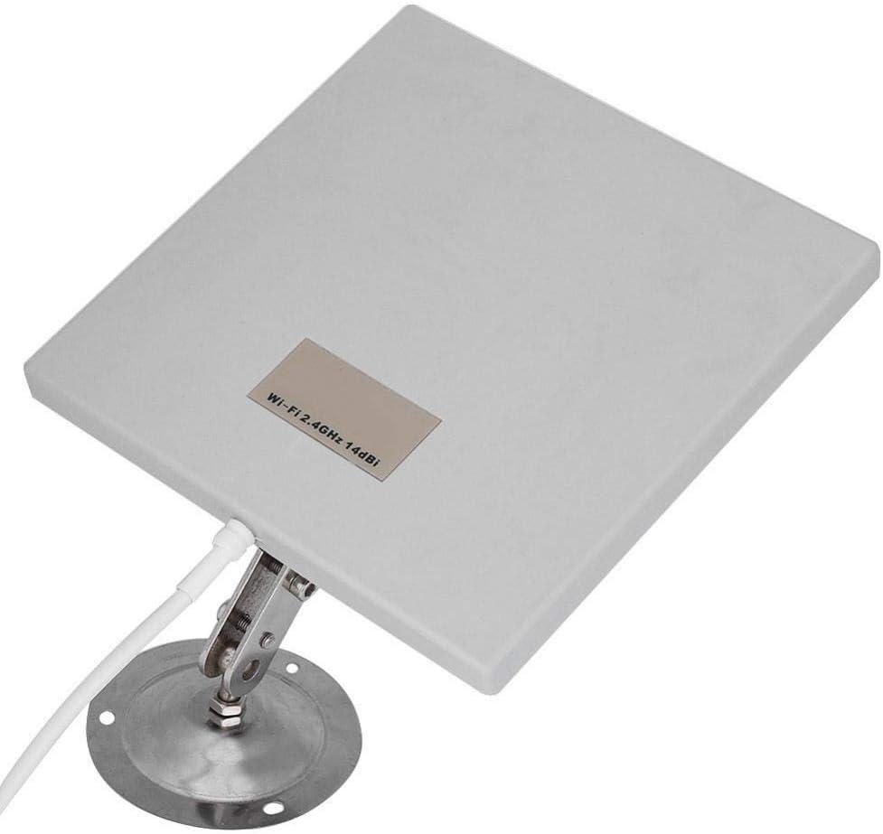 Diyeeni Panel Antena WiFi, Antena Exterior Panel 14 dBi Alta Ganancia WiFi Extensor Antena direccional de Red de Largo Alcance, Duradera y Resistente ...