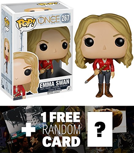 Emma Swan: Funko POP! x Once Upon A Time Vinyl Figure + 1 FREE American TV Themed Trading Card Bundle (Evil Fairy Tale Characters)