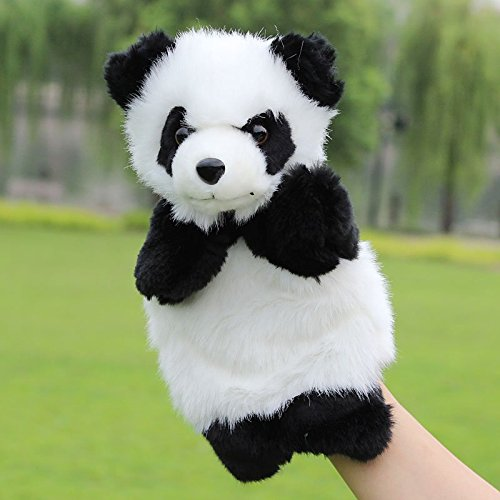 Funrarity Cute Fluffy Storytelling Role Playing Animal Hand Puppet - Panda Puppet Finger