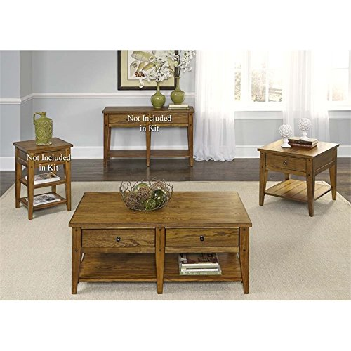 Liberty Furniture Lake House 3 Piece Coffee Table Set in - House Liberty Lake