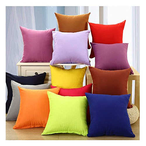 Coliang 2017 Candy Solid Color Throw Pillow Case Fashion Cus