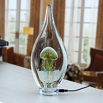 CNMKLM Creative Luminous Jellyfish Lamp Modern Minimalist Home Furnishings Living Room Art Glass Night Light