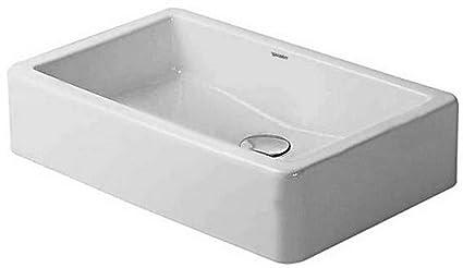 Duravit 04556000001 Vero 23-1/2-Inch Wash Bowl, White Finish - Wall ...