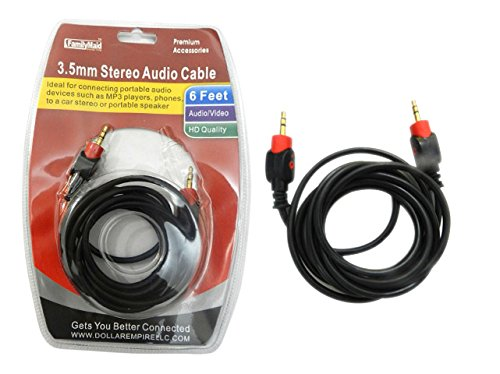 3.5mm Stereo Headphone Cable Size: 6ft , Case of 96 by DollarItemDirect