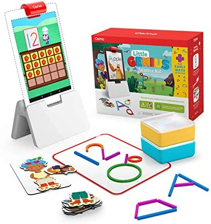 Osmo - Little Genius Starter Kit for Fire Tablet + Early Math Adventure - 6 Educational Games - Ages 3-5 - Counting, Shapes & Phonics - STEM Toy (Osmo Fire Tablet Base Included) (Amazon Exclusive)