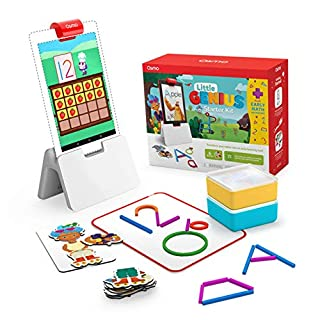 Osmo - Little Genius Starter Kit for Fire Tablet + Early Math Adventure - 6 Educational Games - Ages 3-5 - Counting, Shapes & Phonics - STEM Toy Fire Tablet Base Included (Amazon Exclusive)