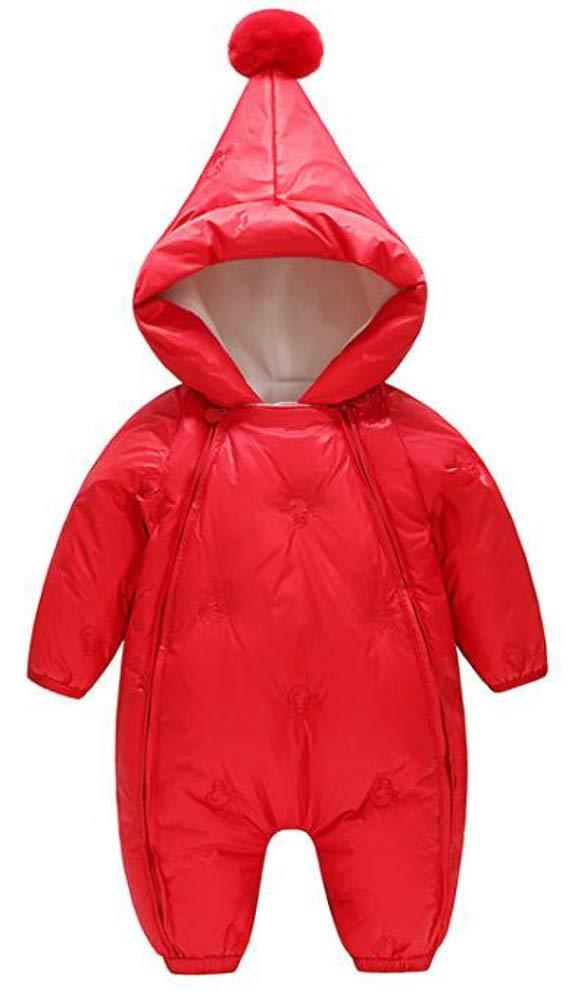 Ffox Baby Girls Hoodies Winter Thicker Lightweight Down Jumpsuit Romper Coats Red by Ffox