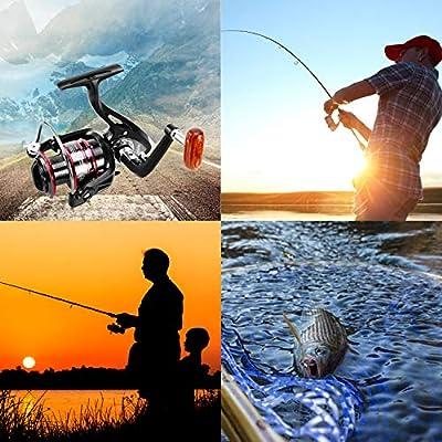 Cañas de Pescar Spinning, FishOaky 2.1M Cana Pescar Telescópicas ...