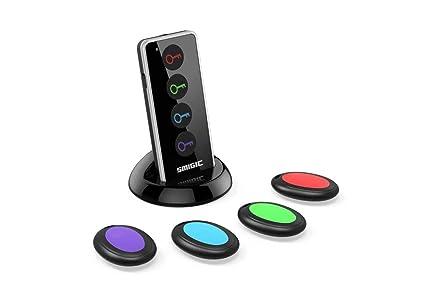 4 in 1 Wireless Key Tracker Remote Control RF Item Locator with LED Flashlight