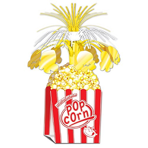 Club Pack of 12 Night at the Movies Popcorn Centerpiece Party Decorations -