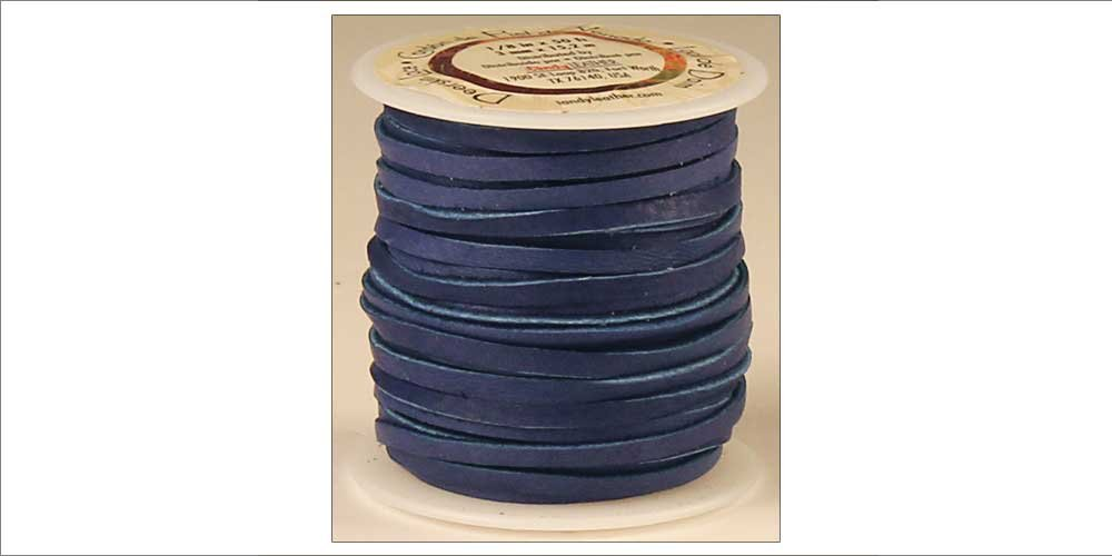 Tandy Leather Deerskin Lace 3/16'' x 36 ft Royal Blue 5068-12
