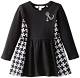 Petit Lem Little Girls' Parisian Chic Dress, Black, 4