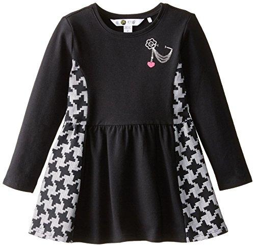 Petit Lem Little Girls' Parisian Chic Dress, Black, 4 by Petit Lem