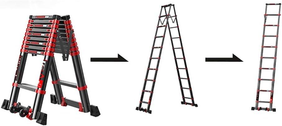 Escalera extensible Escalera telescópica Aluminio Espiga Telescópica Escalera, Multiusos Escalera Telescópica De Extensión con Estabilizador, 330 Libras De Capacidad, Varios Tamaños Disponibles: Amazon.es: Hogar