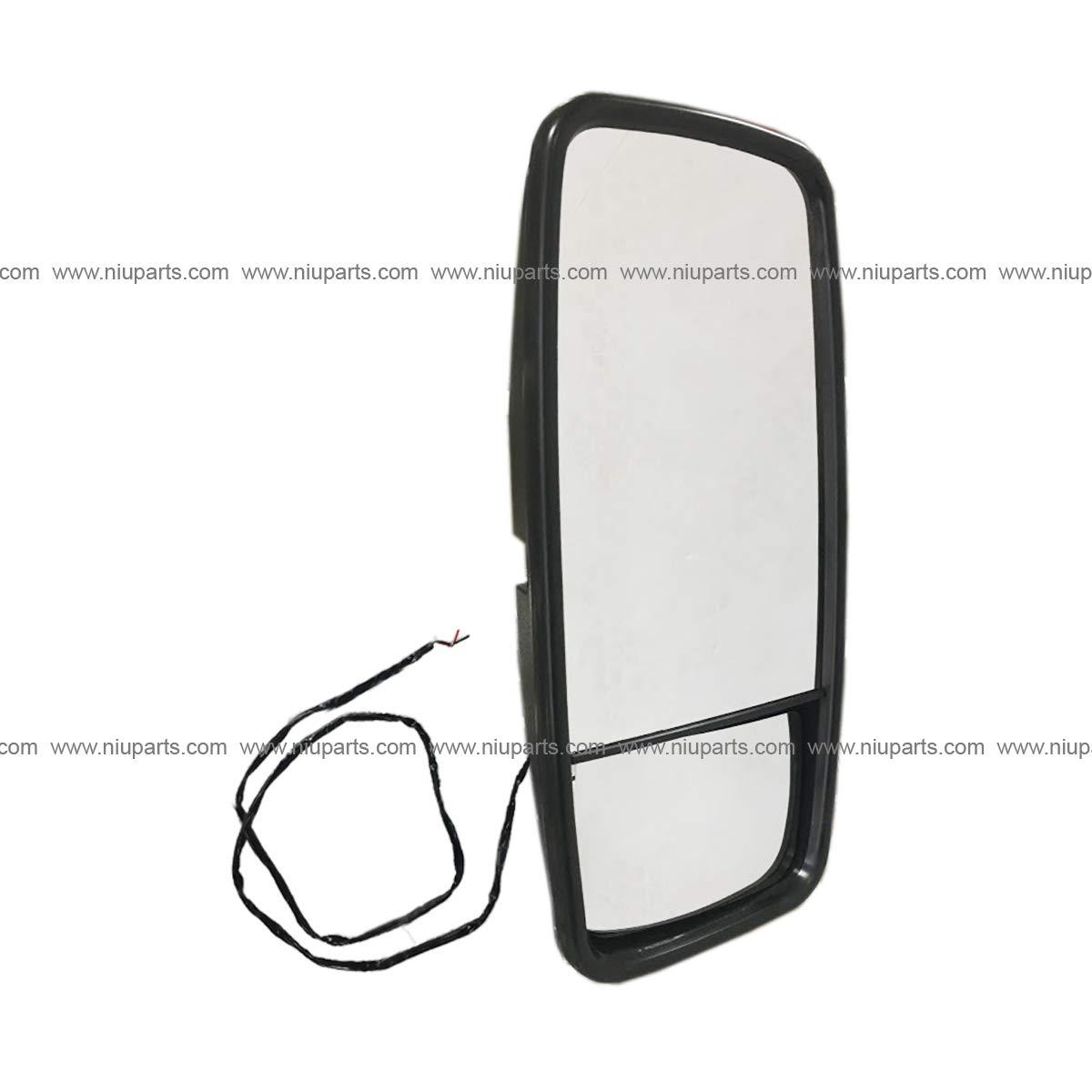Door Mirror Main /& Convex Combination Style Heated Black Fit: Mitsubishi Fuso FE, FH, FG, FG4x4 FK455. Isuzu NPR, NRR. Nissan UD. Chevrolet//GMC W5500 Passenger Side