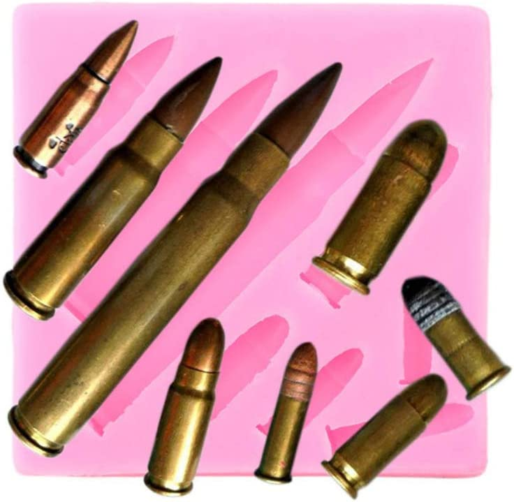 Mini Sizes Bullet Boy Toy Baby Birthday Party Silicone Mold Cupcake Topper Fondant Cake Decor Tools Candy Clay Chocolate Gumpaste Mould
