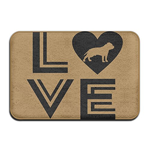 KOESBY-MT Luxury Hotel Bedroom Rugs I Love Pitbull Super Cozy Bathroom Rug by KOESBY-MT