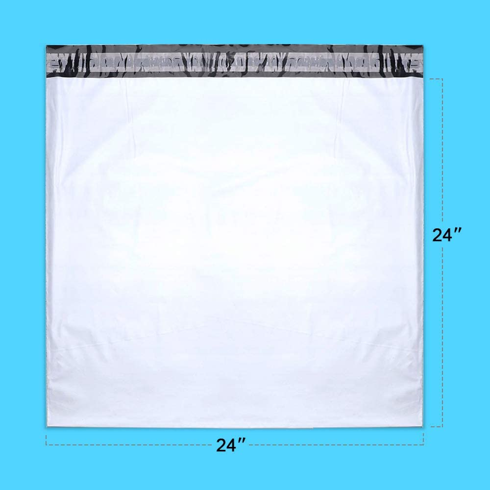 25 Pack 24x24 Inches Black Poly Mailers Mailing Envelope Shipping Bags 24 x 24