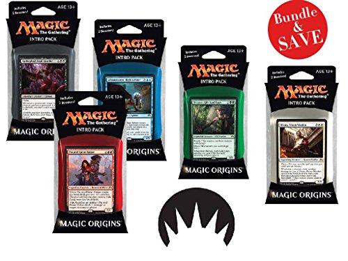 Promo 5 Card Set (Magic the Gathering: MTG Magic Origins: Combo Intro Pack / Theme Deck (Set of All 5 Intro Packs / Decks including Alternate Art Promo Cards))