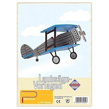 Matches21 Flugzeug Flieger Holz Laubsägevorlage Din A4 Holzvorlage