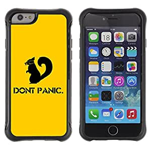 ZAKO Cases / Apple Iphone 6 / Don't Panic / Robusto Prueba de choques Caso Billetera cubierta Shell Armor Funda Case Cover Slim Armor