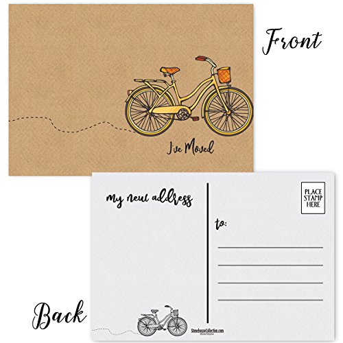 I've Moved ! 50 Moving Announcement Postcards - 4 x 6 Moving Postcards - Change of Address Fill in The Blank Postcards (Iv'e Moved) ()