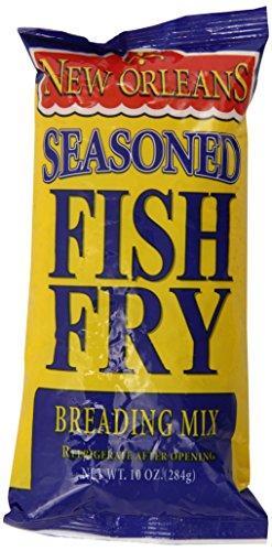 Zatarain's New Orleans Seasoned Fish Fry Breading Mix, 10 oz (Case of 12) by Zatarain's