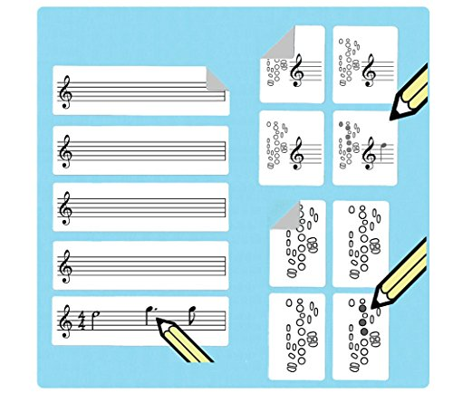 Saxophone Fingering Stickers Multipack (420 handy stickers) Great for beginners and teachers! by WhirlWindPress.ca