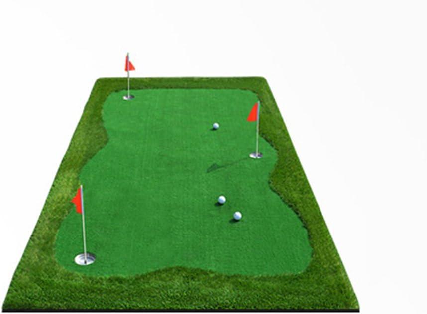 Yxsd インドアゴルフグリーンパットトレーナーオフィス練習ブランケット 自宅でのパッティングストロークを向上 100300cm