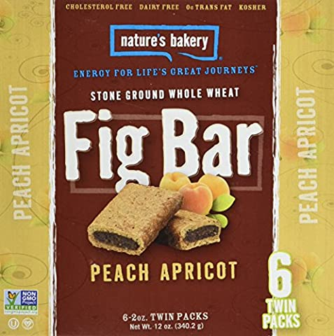 Nature's Bakery Whole Wheat Fig Bar, Peach Apricot, 6 Count (Pack of 12) - Bar Apricot
