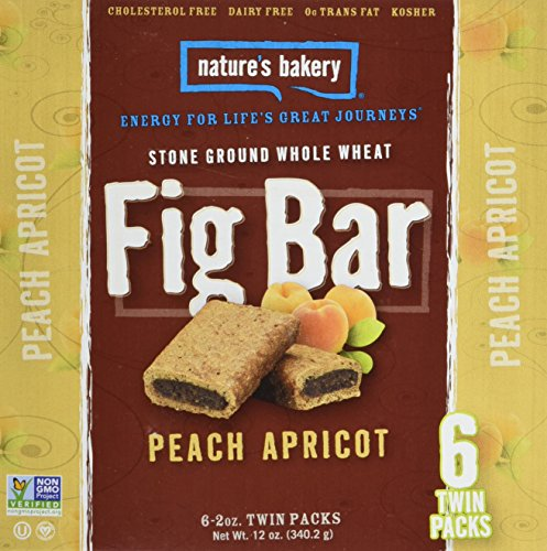 Nature's Bakery Whole Wheat Fig Bar, Peach Apricot, 6 Count (Pack of 12)