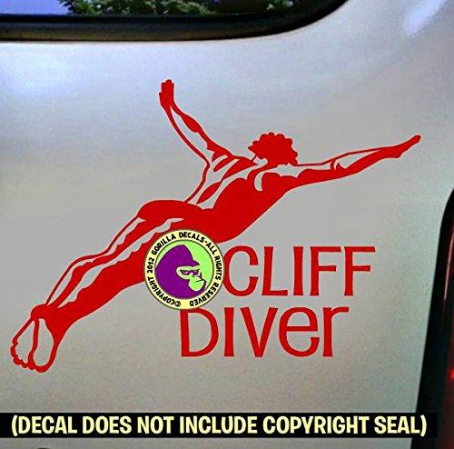 CLIFF DIVER Vinyl Decal Sticker C