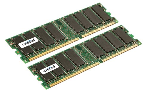 Crucial Technology CT2CP25672Y335 4 GB (2 GBx2) 184-pin DIMM DDR PC2700 CL=2.5 Registered ECC DDR333 2.5V 256Meg x 72 Memory Kit - Dimm 184 Pin Ddr Registered