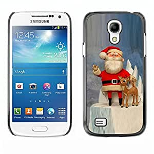 YOYO Slim PC / Aluminium Case Cover Armor Shell Portection //Christmas Holiday Santa Claus Holiday 1047 //Samsung Galaxy S4 Mini