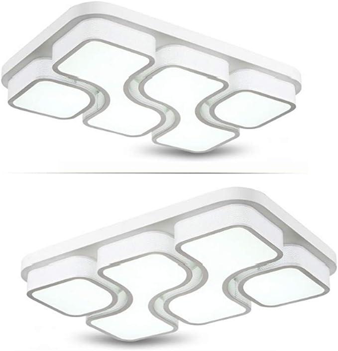 JINPIKER 78W LED Lámpara de techo Pasillo Dormitorio Sala de estar Elegante y generoso Luz de techo de Panel de Regulable Lámpara de pared [Clase energética A ++]
