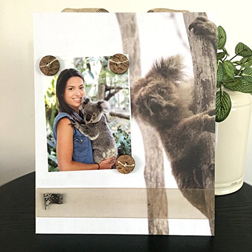 Australia with Koala - Travel Down Under Family Vacation Handmade Gift Present Home Decor Magnetic Picture Frame Size 9 x 11 Holds 5 x 7 - Australia Coach
