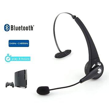 Auricular Bluetooth, 200 horas Tiempo en espera alta auriculares, 3.5mm + USB inalámbrico